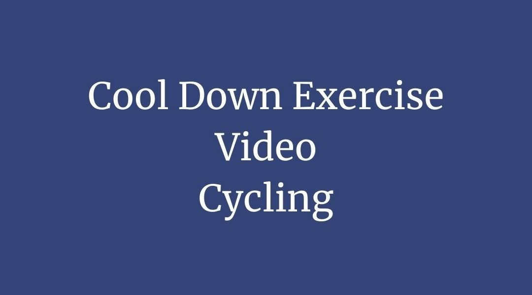 Cyclists Cool Down