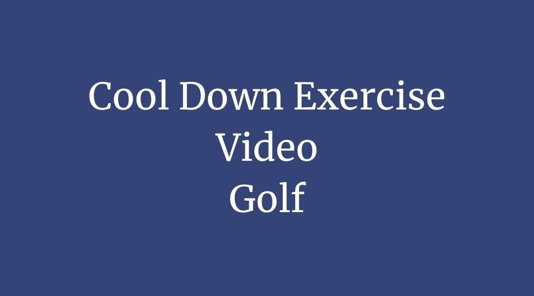 Golfers Cool Down