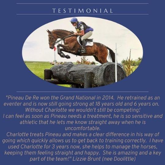 Testimonial from Lizzie Brunt for Charlotte Hurst